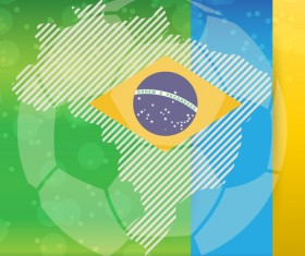2014 brazil world football tournament vector background 07