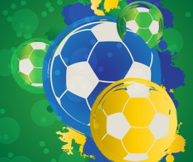 2014 brazil world football tournament vector background 08
