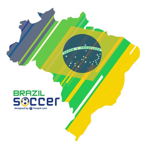 2014 brazil world football tournament vector background 09