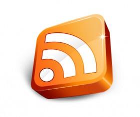 3D Orange WIFI icons