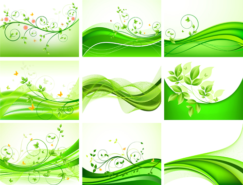 Abstract green leaves background design vector over millions abstract green leaves background design vector toneelgroepblik Images
