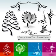 Link toAbstract ornaments tree vector graphics