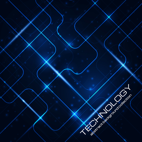 Abstract technology pattern vector background 01 – Over millions