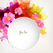 Link toBeautiful watercolor floral vector background 02