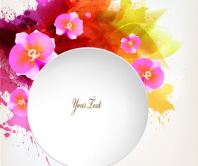 Beautiful watercolor floral vector background 02