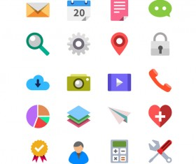 Best life icons psd material