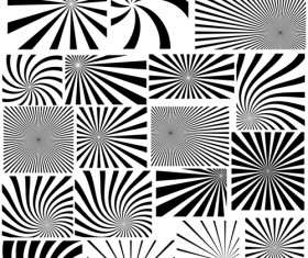 Black with white whirl background and Photoshop Brushes
