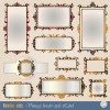 Blank frames design vector collection 05