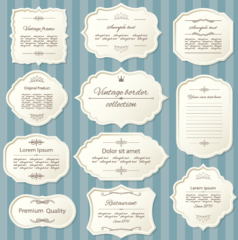 Blank retro labels cards vector 02 free download blank retro labels cards vector 02 stopboris Images
