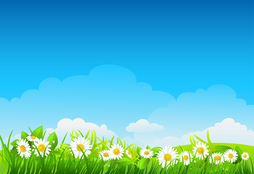 Blue sky with nature vector background vector 02 – Over ...