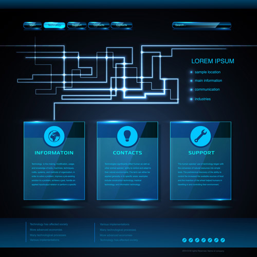 Blue web infographics template design vector 04 free download blue web infographics template design vector 04 maxwellsz
