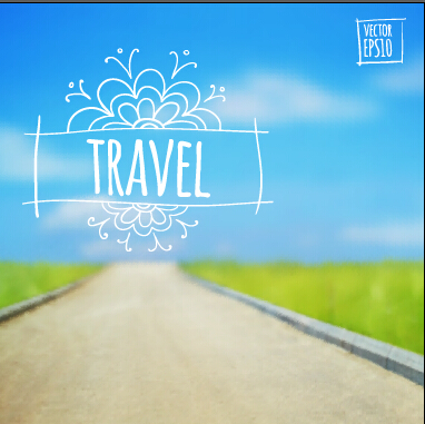 Blurred Summer Travel Creative Background   Over Millions
