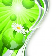Link toBright green background with flower vector 01