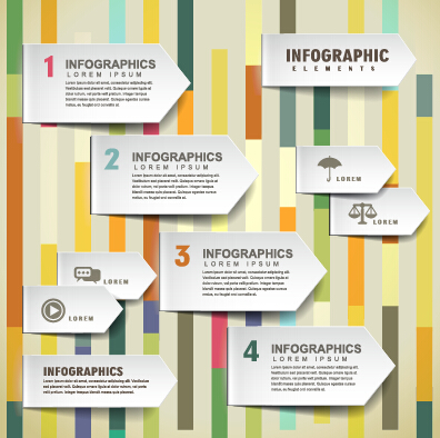 Infographic Ideas 3d paper infographic powerpoint template free download : Business infographic creative design 1460 – Over millions vectors ...