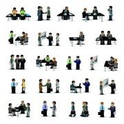 Link toBusiness people with meeting design vector