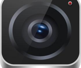 Camera shutter psd icon material