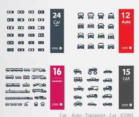 Car – Auto – Transport icons vector