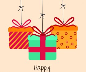 Cartoon style Happy Birthday greeting card template 04