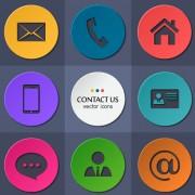 Link toCircle flat icons set vectors 01
