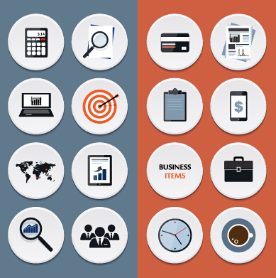 Circle Flat Icons Set Vectors 02 Over Millions Vectors