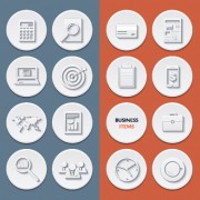 Link toCircle flat icons set vectors 04