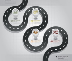City street traffic Infographic elements vector 02
