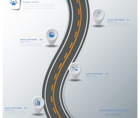 City street traffic Infographic elements vector 04