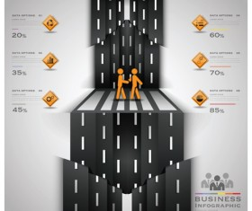 City street traffic Infographic elements vector 05