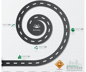 City street traffic Infographic elements vector 06
