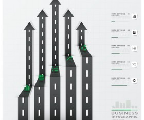 City street traffic Infographic elements vector 07