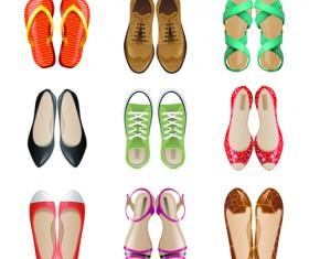 Classic woman shoes design vectors 02