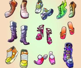 Classic woman shoes design vectors 03
