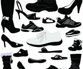 Classic woman shoes design vectors 04