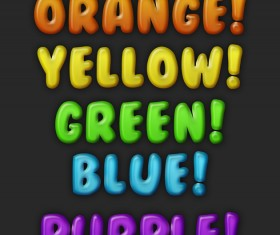 Colored baloon text styles