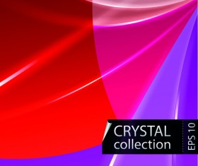 Colored crystal triangle shapes vector background 02
