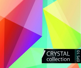 Colored crystal triangle shapes vector background 03