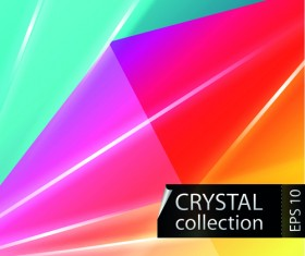 Colored crystal triangle shapes vector background 04