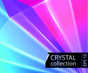 Colored crystal triangle shapes vector background 05