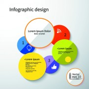 Link toColored round infographics design vector 01