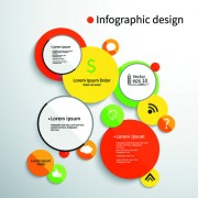 Link toColored round infographics design vector 02