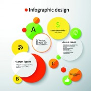 Link toColored round infographics design vector 03