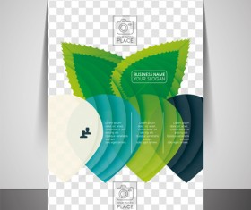 Corporate flyer cover set vector illustration 10