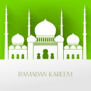 Creative islamic mosque vector background material 03