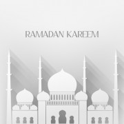 Creative islamic mosque vector background material 04
