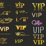 Link toCreative vip golden logos vector