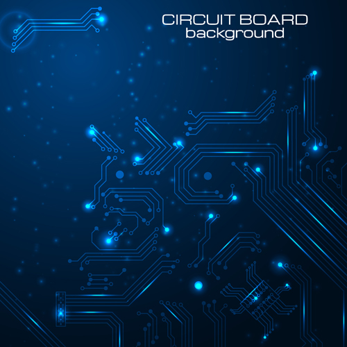 Creative circuit board concept background vector 02 free download