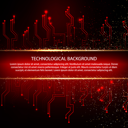 Creative circuit board concept background vector 05 free download