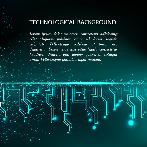 Creative circuit board concept background vector 07 free download