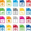 Creative file format icons vector graphics