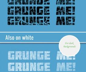Creative grunge text styles